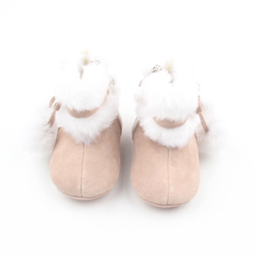 Warm Plush Baby Shoes Winter Leather Baby Boots