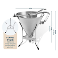 Stainless Steel Confectionery Funnel With 3 Nozzles