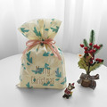 Yellow Christmas Reusable Plastic Gift Bags