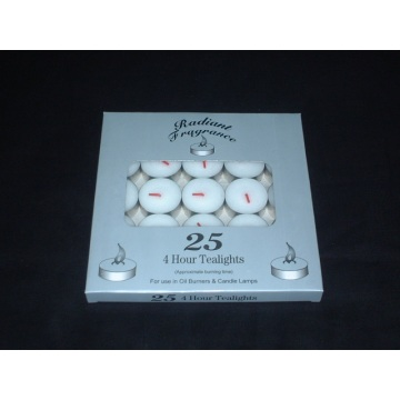 4 Hours Burning Unscented White Tealight Candle