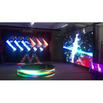 SMD indoor background dj stage led screen triangle