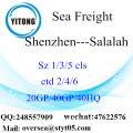 Shenzhen Port Sea Freight Shipping To Salalah