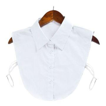 Cotton Fake Collar Clothes Accessories Women Adjustable Solid Color Detachable Half-Shirt Blouse Tops