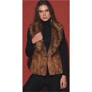 Winter Warm Fake Fur Fashion Women Vest