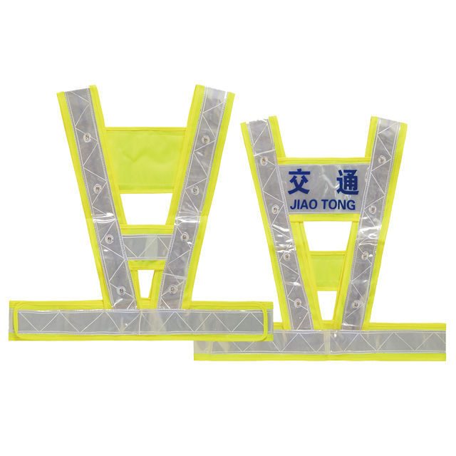Safety vest with LED lights