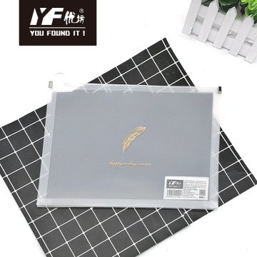 Gild leaf style PP zipper file holder