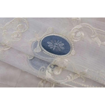 Factory European Style Embroidery Curtain