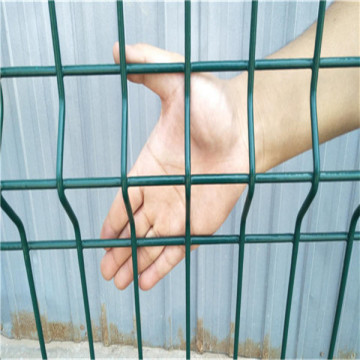 power coated curved wire metal fencing