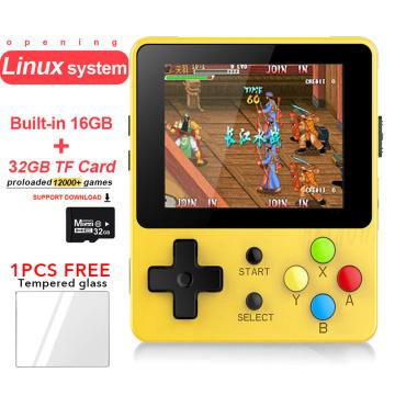 Opening Linux Retro Game Console 2.6 inch LDK Nostalgic Children Retro Game Mini Family TV Video Consoles Mini Handheld Player