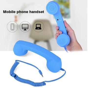 3.5mm Radiation Proof Telephone Handset Earphone Phone Classic Receiver With Microphone Portable Telephone Headset for Computer