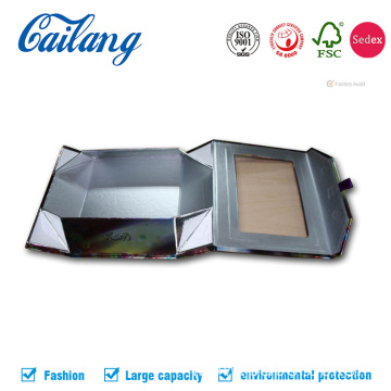 Luxury Folding Rigid Cardboard Magnetic Box with Window