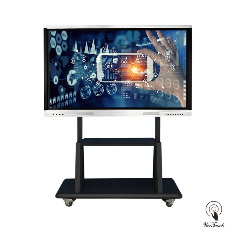 75 Inches Touch Panel With Mobile Stand