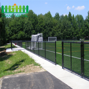 Retractable Roll Chain Link Fence Black For Sale