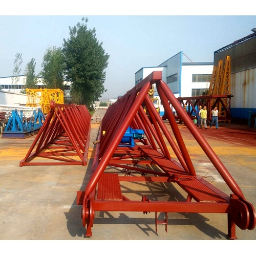 roof mounted material winch hoist