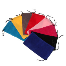 Solid Color Sunglasses Bags Portable Drawstring Eyeglasses Pouch Bags Eyewear Case Accessories Soft Cloth Glasses Bags