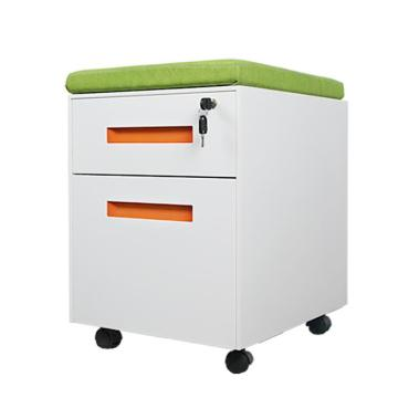 2 Drawer Cushion Mobile Pedestal