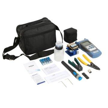 Practical Fiber Optic FTTH Tool Kit with FC-6S Fiber Cleaver and Optical Power Meter 5km Visual Fault Locator Fiber Stripper