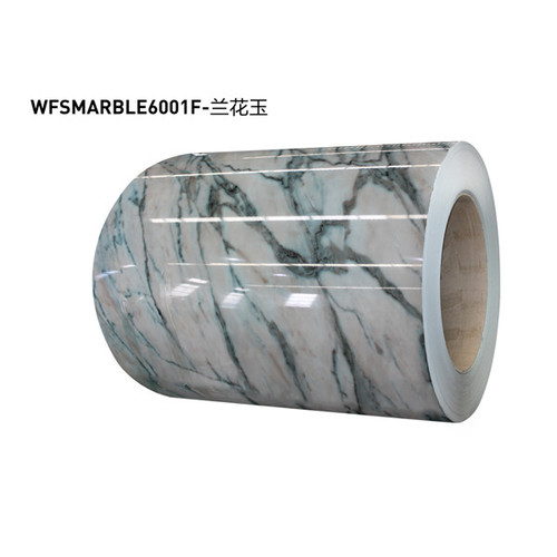 Marble precoated metal plate