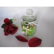 Scented Green Color Glass Jar Candle