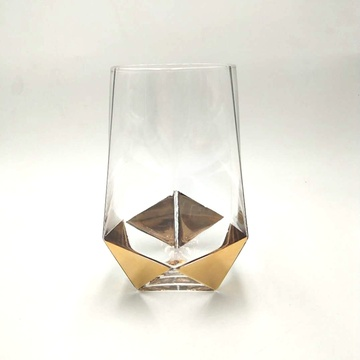 real gold decal high ball glass drinking ware