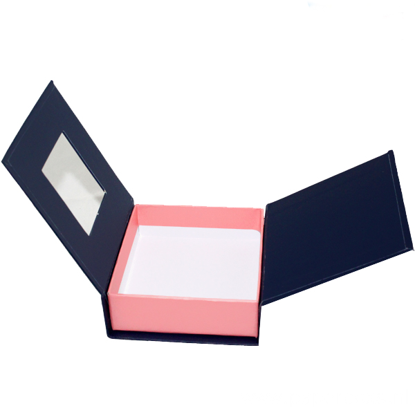 Book Shaped Rigid Box With Clear Window