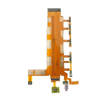 Power Switch Microphone Flex Cable Mobile Phone Parts For Sony Xperia Z3 Dual D6633 DXAC