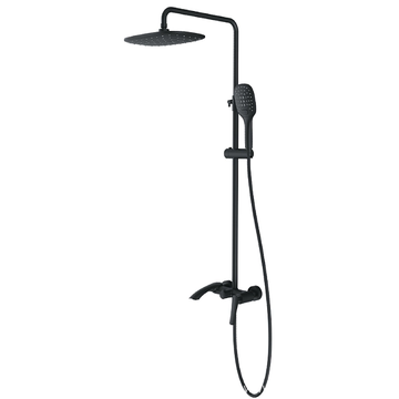 Wall-mounted Shower Sets black