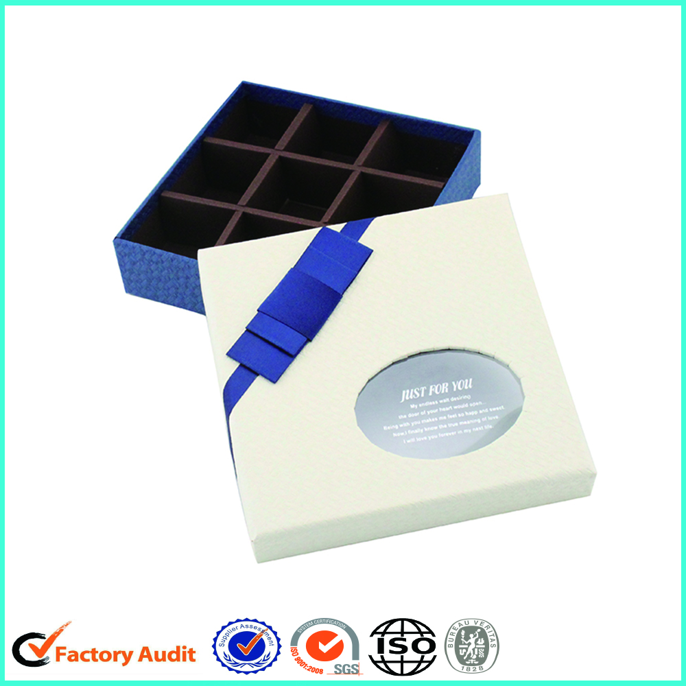 White Chocolate Box With Clear Window