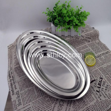 Stainless Steel Non-magnetic Thickened Oval Plates