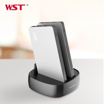 WST Power Bank Station 8000mAh External Battery Pack Type C Quick Charging Built in Cable Business Design Batteries For Phones