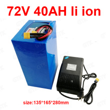 GTK 72v 40Ah lithium ion battery BMS 20S li ion battery for 2000w 3500w 7000w scooter inverter go cart motorcycle +5A charger