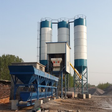 Environment friendly 25m3 small concrete batching plant