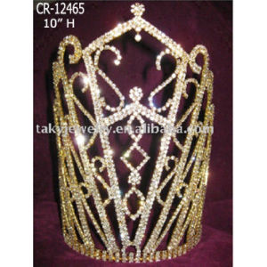 2018 Tall High Gold Plated Pageant Crown