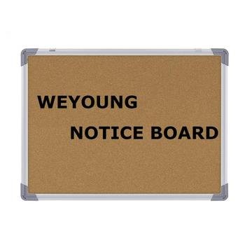 Large Wall Mounted Message Cork Board for Office
