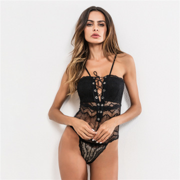 Hot adjustable tube lace bodysuit women lingerie