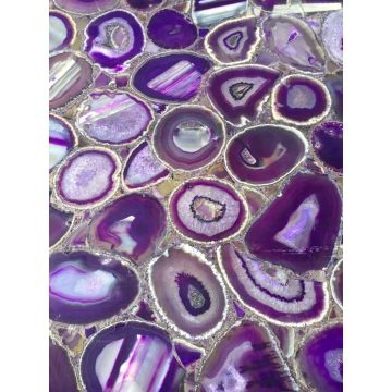 purple agate side table semi precious stone