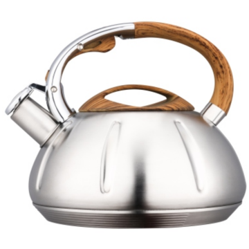 4.5L wooden nylon+zinc alloy handles teakettle