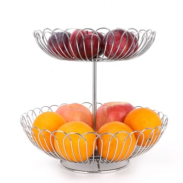 Doubles stainless steel creative fruit basket
