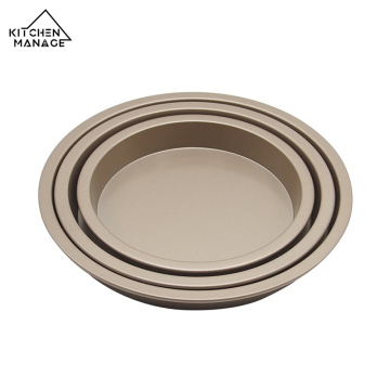 Non-Stick Carbon Steel Round Cake Baking Tray Set