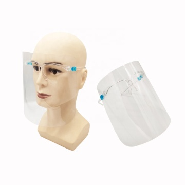 Full Protective Transparent Face Shield With Glasses