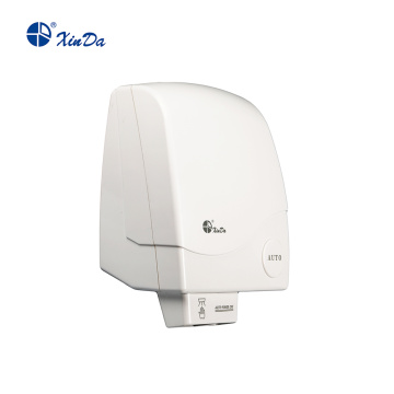 Low power hand touch hot air dryer