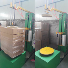 Mini carton box wrapping film machine