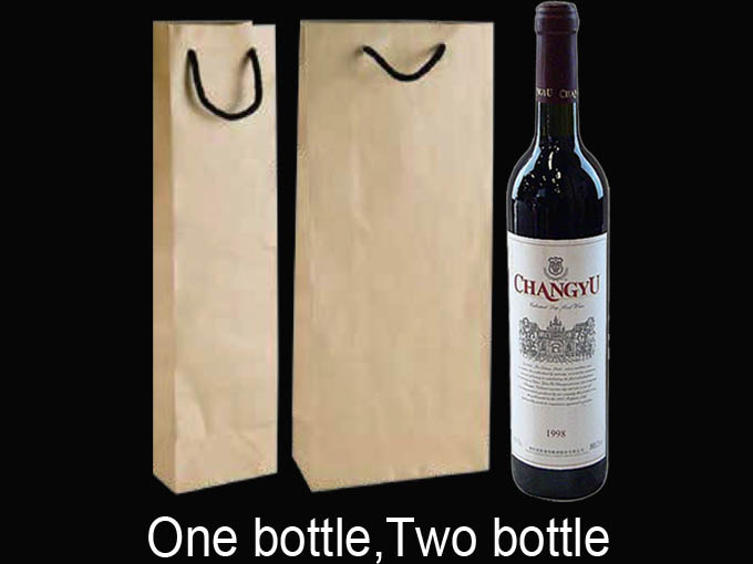 Custom printed wine bags