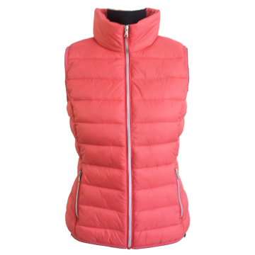 Ladies fake down vest