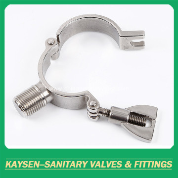 Sanitary stainless steel heavy duty pipe holder