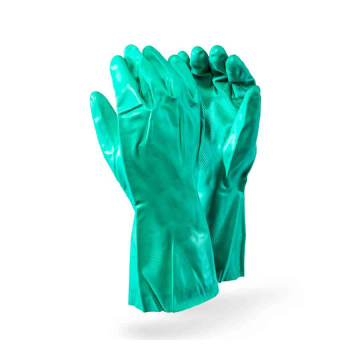 Industrial Green Chemical Gloves