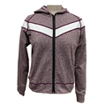 Ladies knit hoodie activewear jacket