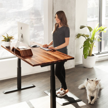 Electric Height Adjustable Desk Wood Desk