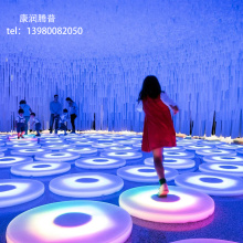 LED Colorful Floor Interactive Brick Lights