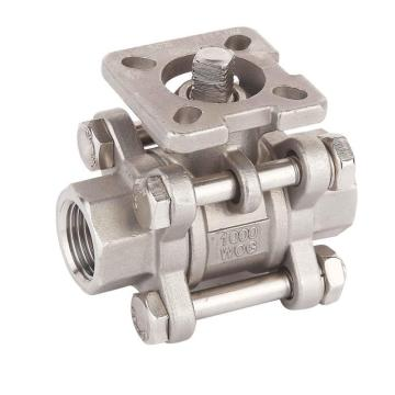 2000wog Threaded Stainless Steel Ball Valve ISO5211 Mounting